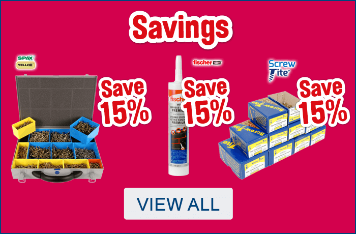 Screws and Fixing Savings. View All