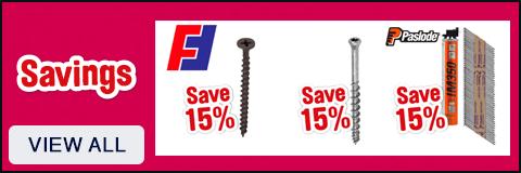 Screws & Fixings Savings - View All