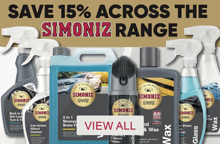 Save 15% across the Simoniz Range - View All