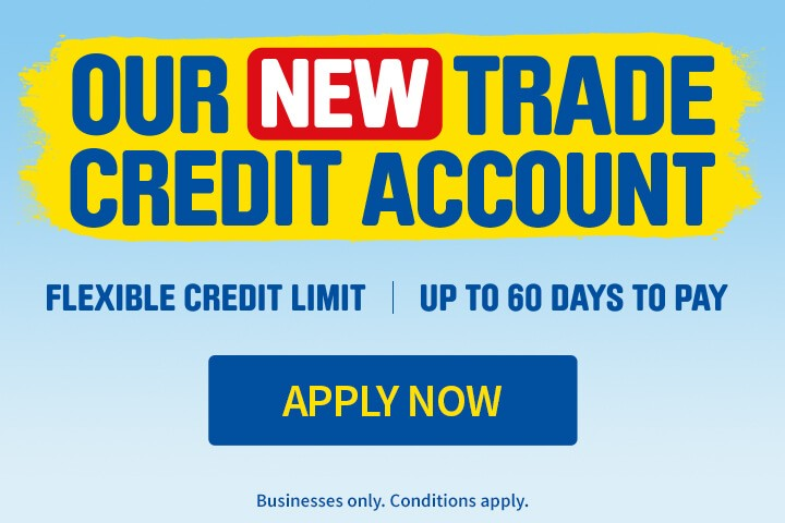 Get Our New Trade Credit Account - Apply Now