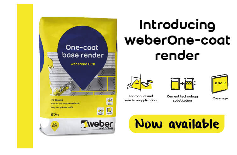 Weber One Coat Render - Now Available