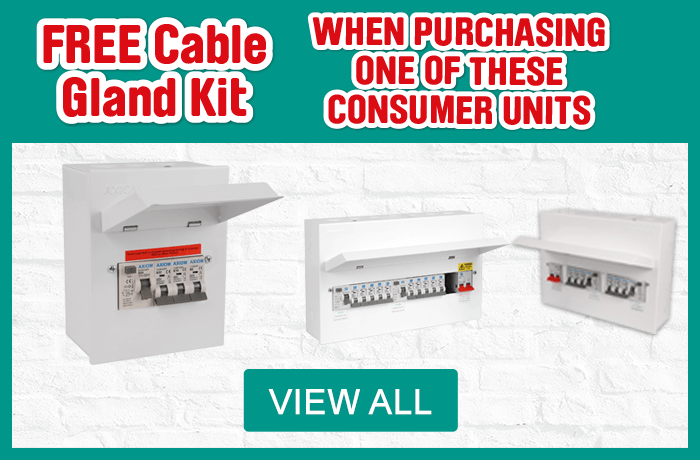Free Cable Gland Kit when you purchasing one of these Consumer Units