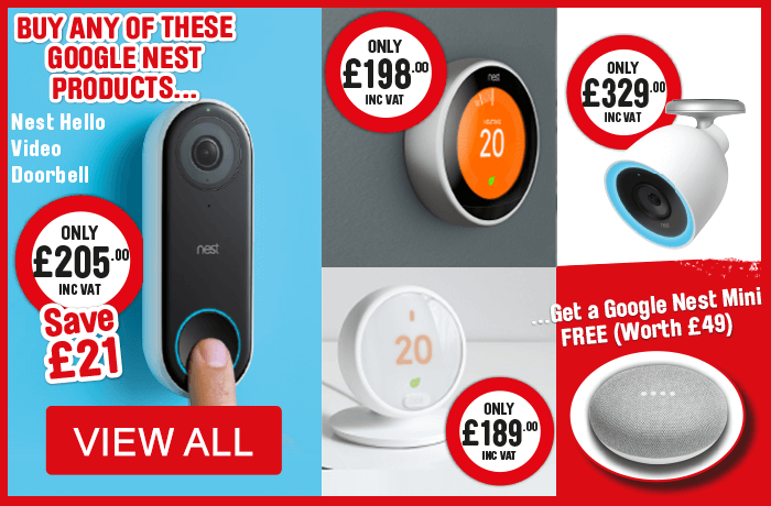 Buy any of these Google Nest products and get a Nest Mini Free. View All