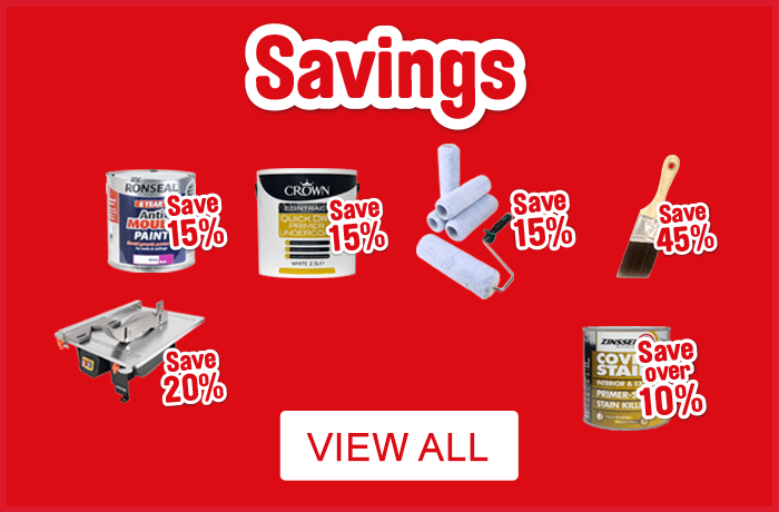 Painting and Decorating Savings. View All