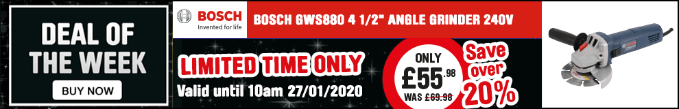 Save over 20% on this Bosch GWS880 4 1/2
