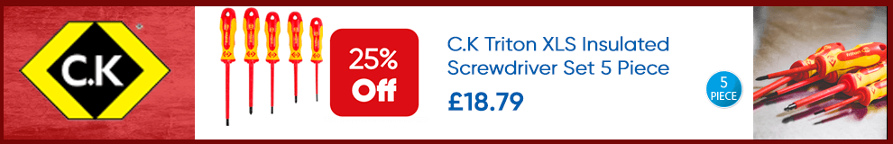 Save 25% on C.K Triton XLS Insulated Screwdriver Set 5 Piece - Limited Time only