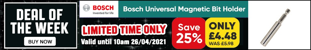 Save 25% on this Bosch Universal Magnetic Bit Holder - Limited Time only