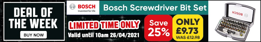 Save 25% on this Bosch Screwdriver Bit Set - Limited Time only