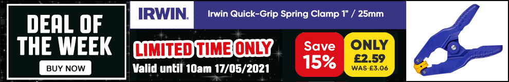 Save 15% on this Irwin Quick-Grip Spring Clamp - Limited Time only