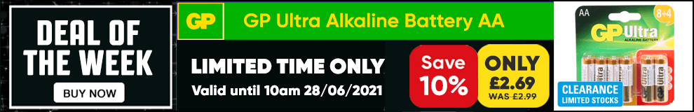 Save 10% on this GP Ultra Alkaline Battery AA - Limited Time only