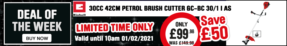 Save £50 on this Einhell 30cc 42cm Petrol Brush Cutter - Limited Time only