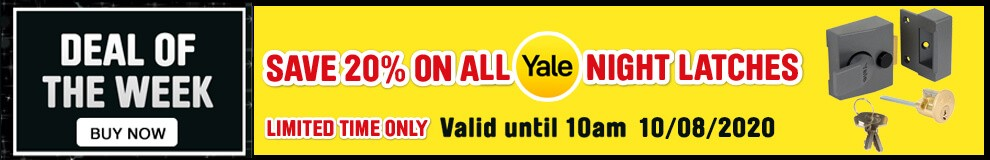 Save 20% on all Yale night latches - Limited Time only