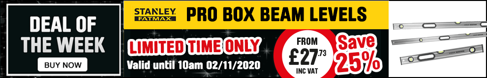 Save 25% on Stanley FatMax Pro Box Beam Levels - Limited Time only