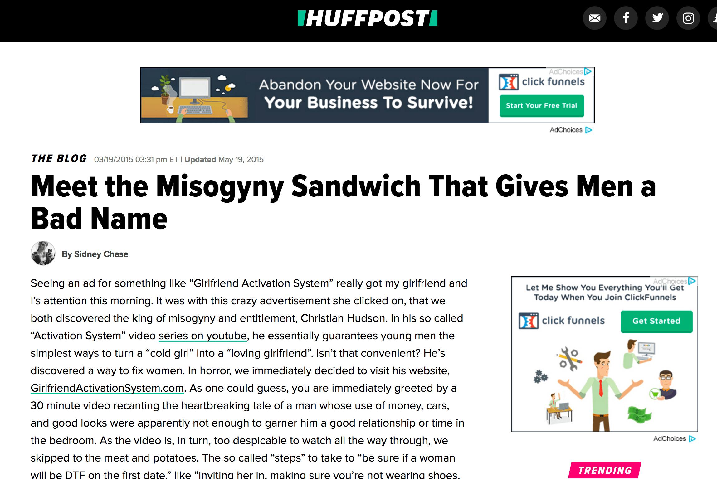 Misogyny Sandwich