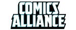 Logo for the website http://comicsalliance.com