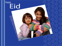Eid Card - Blue wishes