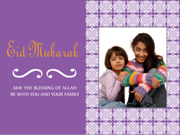 Eid Card - Violet Wishes