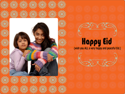 Eid Card - Orange Wishes