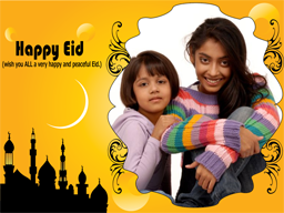 Eid Card - Decent Yellow