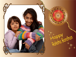 Rakhi Card - In Frame
