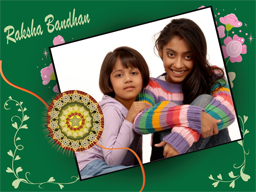 Rakhi Card - Green Flower