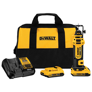 DeWalt 20V MAX* Lithium Ion Cordless Drywall Cut-Out Tool Kit (2.0ah)