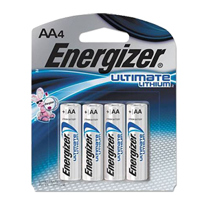 Energizer Ultimate Lithium Batteries, AA - 4 pack