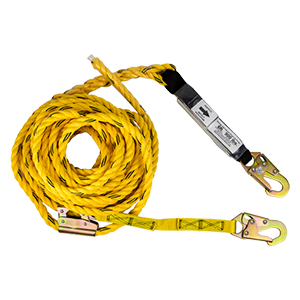 """50' Vertical Lifeline Assembly w/ Shock Pack, Positioning Device & 18"""" Lanyard Extension"""