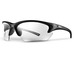 QUEST BLACK/CLEAR BULKPACK SAFETY GLASSES