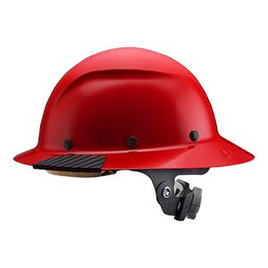 Lift Dax Fiber Red Hard Hat Full Brim