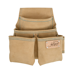 OX Trade 4-Pocket Fastener Pouch, Suede Leather