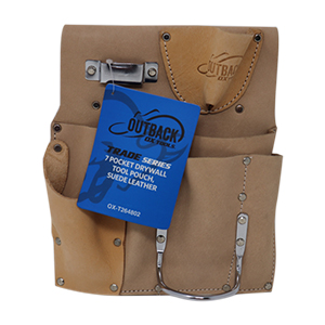 Trade Series 7 Pocket Drywall Tool Pouch, Suede Leather