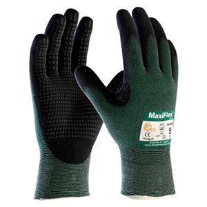 MaxiFlex® Cut™ Seamless Knit Engineered Yarn Glove with Premium Nitrile Coated MicroFoam Grip on Palm & Fingers - Micro Dot Palm- Large