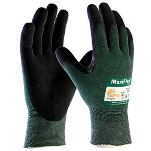 MaxiFlex Cut Seamless Knit Engineered Yarn Glove with Premium Nitrile Coated MicroFoam Grip on Palm & Fingers- Large