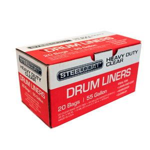 Can Liners 2 Mil 55 Gallon Black [20]