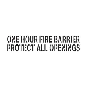"One Hour Firewall 3"" Stencil"