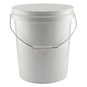 5 Gallon White Bucket No Lid