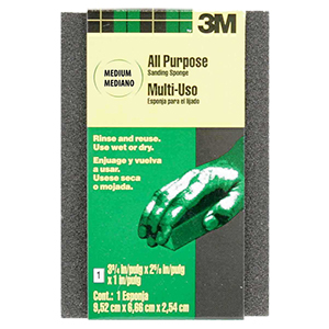 3M Small Area Sanding Sponge - Fine/Medium Grit