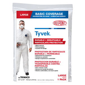 Painter's Disposable Coveralls - Large