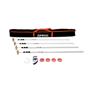 ZipWall 12 - Spring Loaded Poles - 4 Pack