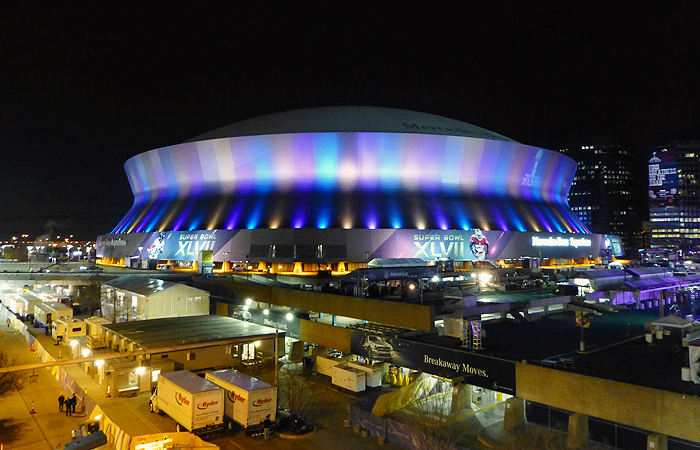 Setting the stage for super bowl xlvii thornton tomasetti for Mercedes benz new orleans service