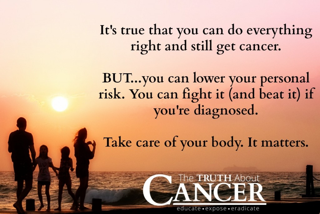 Your Lifestyle Choices play a significant role in getting cancer.