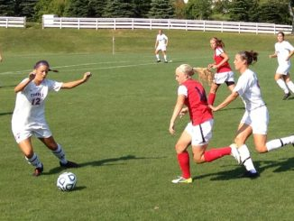 Senior defender Brittany Wollner kicks a ball out of Temple's zone. | JOHN MURROW TTN