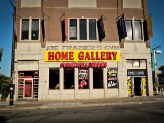 Joe Frazier's gym, which was converted to a furniture store, sits on North Broad Street near Glenwood Street. An architecture professor and students have been fighting to preserve the late boxing legend's gym. ( TIMOTHY VALSHTEIN / TTN )