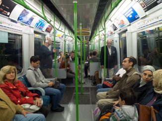 Commuters ride the Tube, which is the nickname of the London Underground train system. ( MATT SALA / TTN )