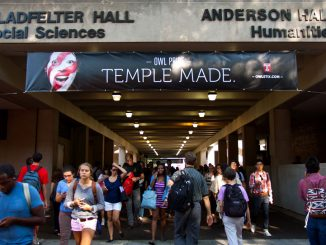 Temple Made branded posters are now proudly hanging all around Main Campus. ( HUA ZONG / TTN )