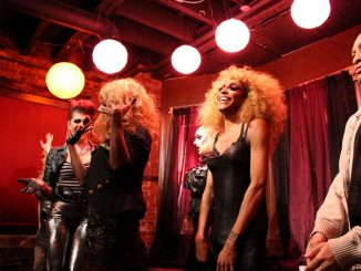 Misty Maven (second from right) performs at Tabu's Sinful Sunday event on Oct. 21. | MILENA CORREDOR / TTN