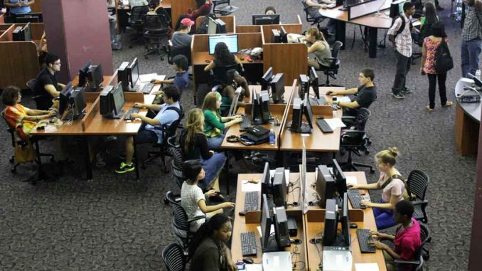The library is utilized by people other than students. Fifty to 70 non-students use it every day. ( AIMEE WANNER // TTN )