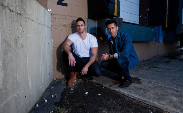 "Mike Tornabene, left, alumnus Gian Hunjan, right, are the co-creators of the ""Dom Mazzetti"" YouTube videos. Tornabene portrays a Jersey Shore-esque guido, fueled by alcohol and hormones. 
