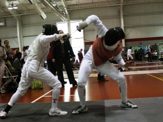 Fencers compete at the Temple Invitational, hosted at McGonigle Hall. | AJA ESPINOSA / TTN